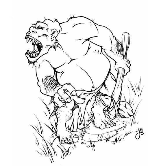 Apish Ogre Daily Doodle - dailydoodle - jasonmartin-1263 | ello