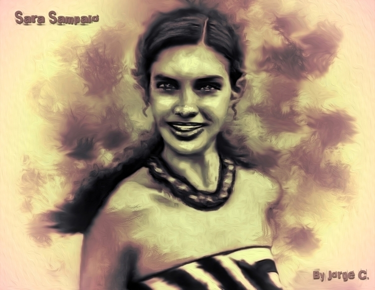 Sara Sampaio Digital Potrait - illustration - toxicfashionist | ello