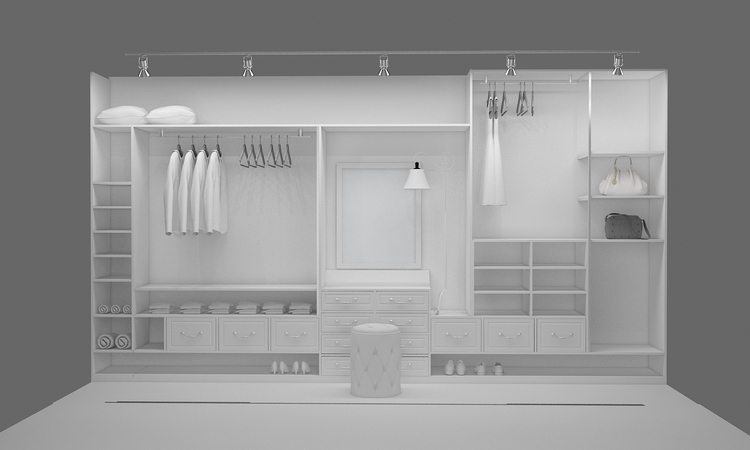 walk closet2_room design - 3d - ruzzletenga | ello