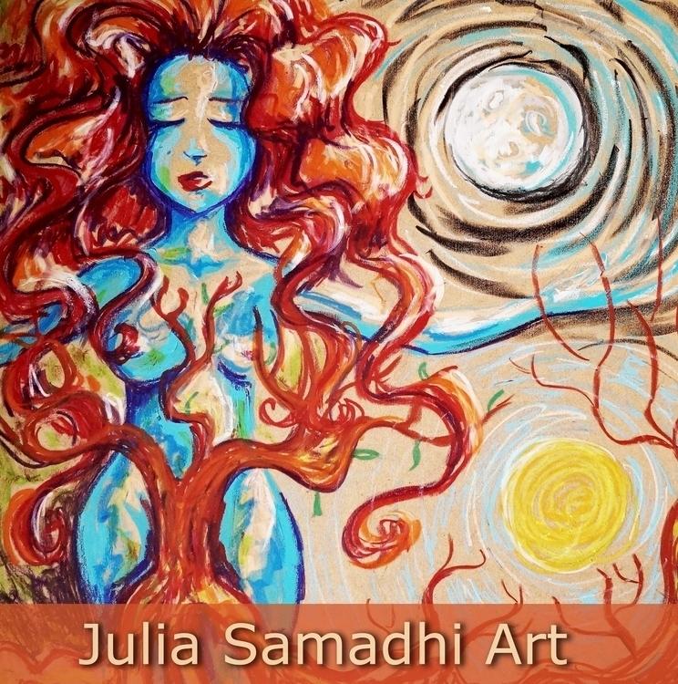 Mujer cíclica - illustration, painting - juliasirena | ello