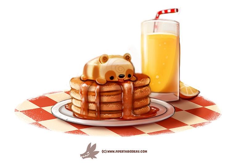 Daily Paint Pandcakes - 1271. - piperthibodeau | ello