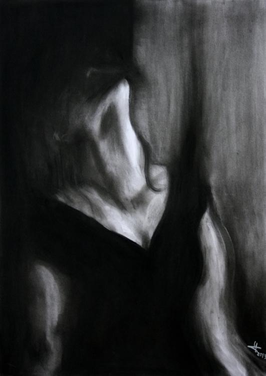 drawing, charcoaldrawing, illustration - yaizacamps | ello