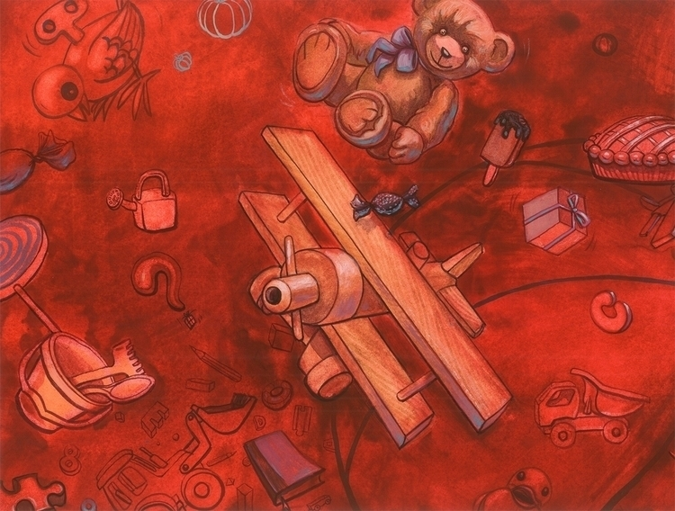 illustration, painting - maukins   ello