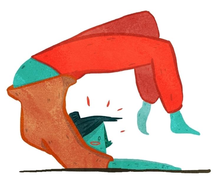 practice editorial illustration - racheltunstall95 | ello