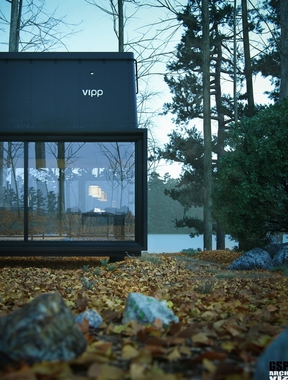 3D Visualization Vipp Shelter - architecturalvisualisation - totozoos | ello