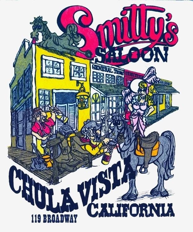 Silk Screen Saloon - illustration - creeshort | ello