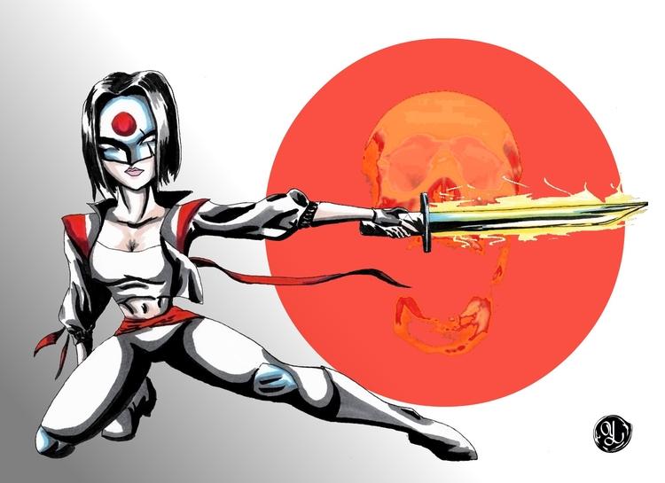 Katana - illustration, characterdesign - yaksiart | ello