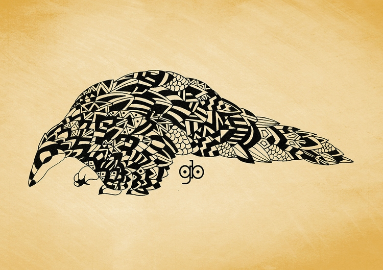 Pangolin - illustration, drawing - gianbautista-3099 | ello