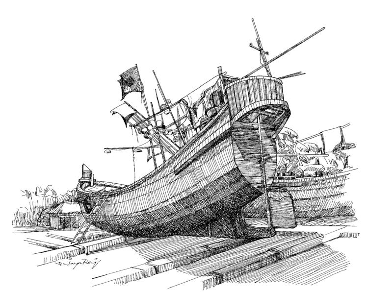 Fishing Boat- Bangladesh - illustration - sjayaraj999   ello