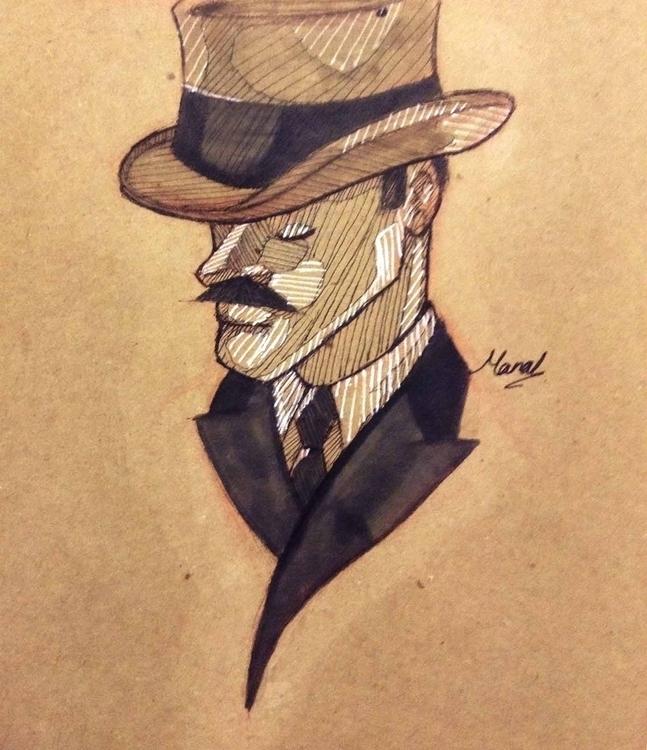 penink, ink, inktober, sketch - manalomayer | ello