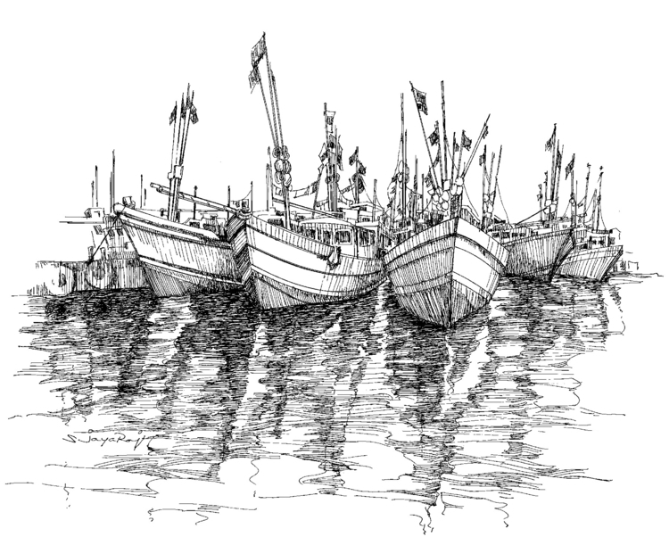 Fishing Boat - Sri Lanka - illustration - sjayaraj999 | ello
