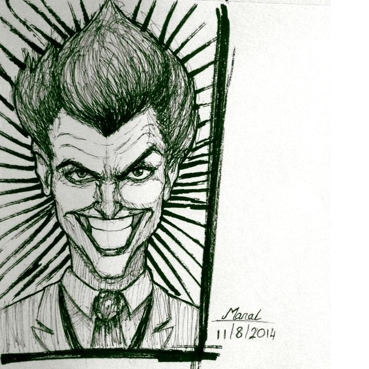 Joker - penink, sketch, ink, inktober - manalomayer | ello