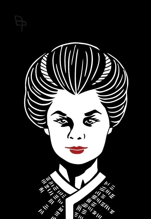 japan style portrait - girl, vector - coconutter | ello