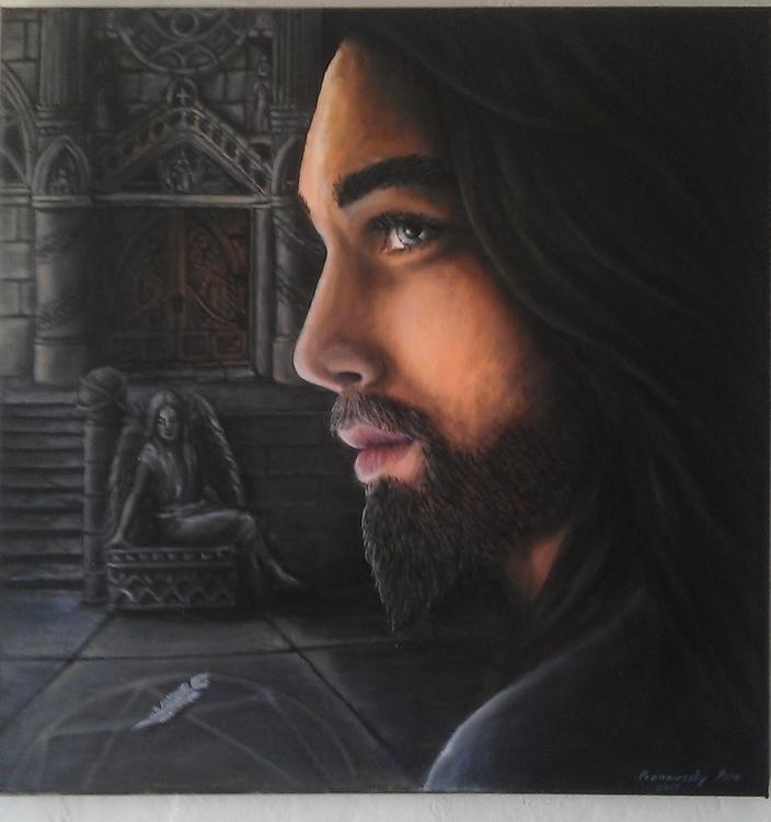faith-oil painting - cathedral, art - spirita | ello