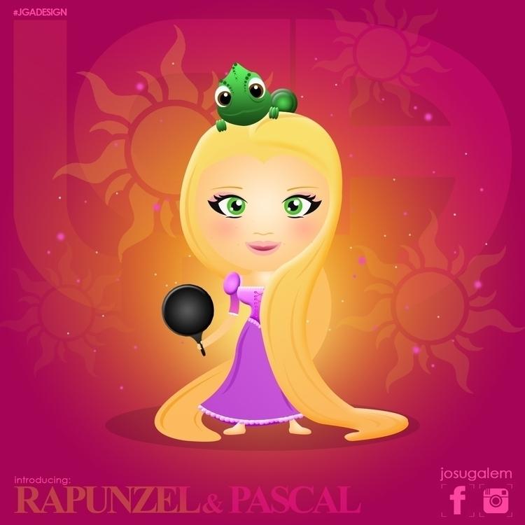 Rapunzel - rapunzel, disney, illustration - josugalem | ello