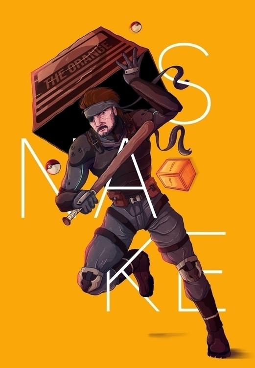 Snake MGS - snake, mgs, metal, gear - charringo | ello