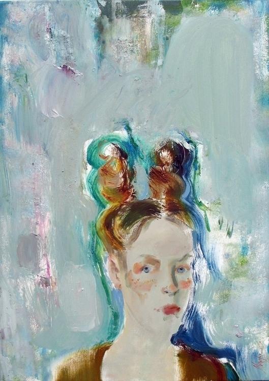Redhead 70x50 oil canvas 2015 - painting - violettamonsevich | ello