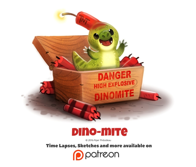 Day 1403. Dino-mite - piperthibodeau | ello