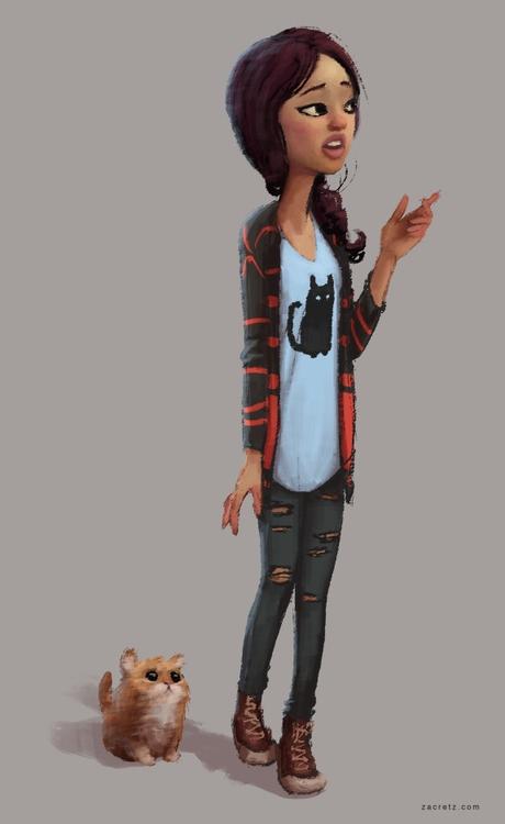 character - characterdesign, sketch - zacretz | ello