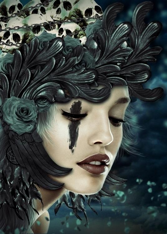 Blue Soul - conceptart, art, femalemodel - lorep | ello
