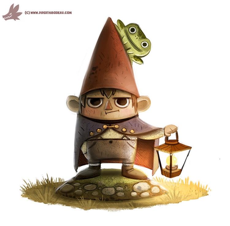Daily Paint Gnome Wirt - 1031. - piperthibodeau | ello