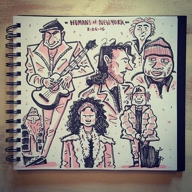 Humans York sketches  - 2, humansofnewyork - carolinedirector | ello