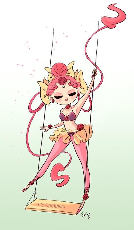 Cere (Sailor Moon - illustration - lujus | ello