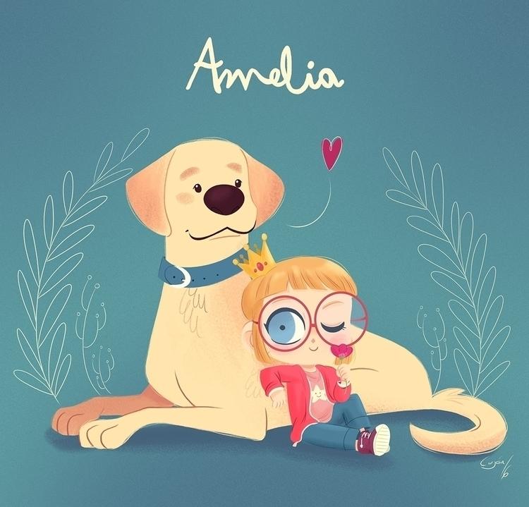 Amelia - illustration, children'sillustration - lujus | ello