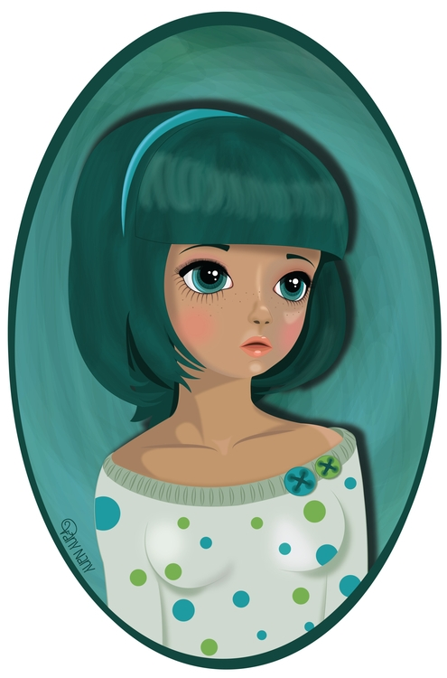 Green haired girl find stores s - vanynany | ello