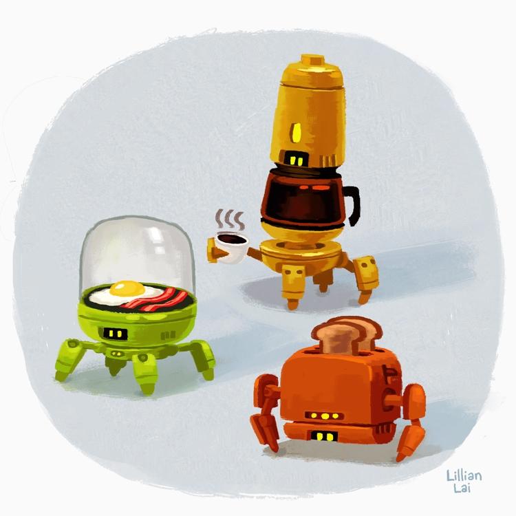 Breakfest 'bots - robots - lillisketch   ello