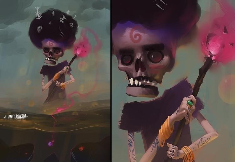 Fisher - illustration, characterdesign - andreylukovnikov | ello