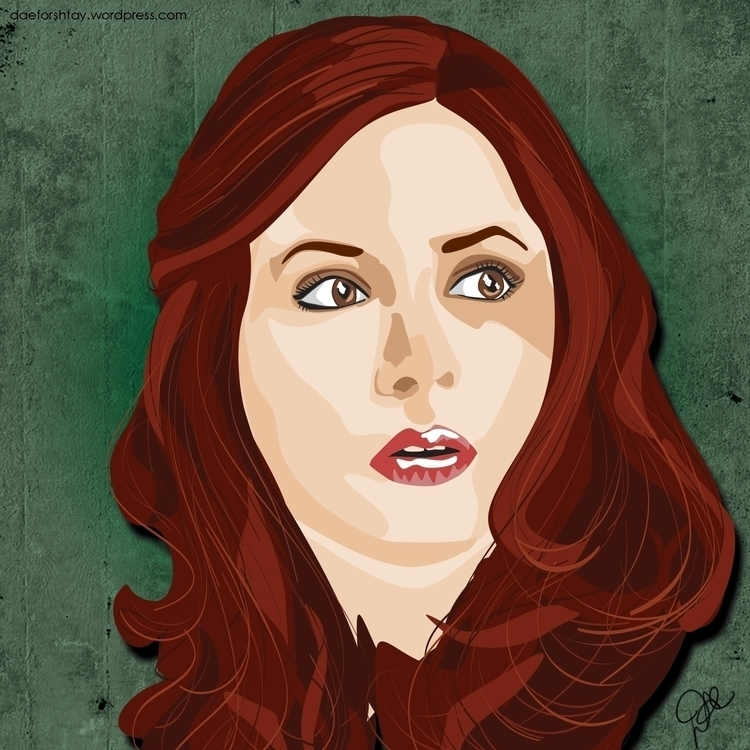 Amelia Pond - illustration, drwho - daeforshtay | ello