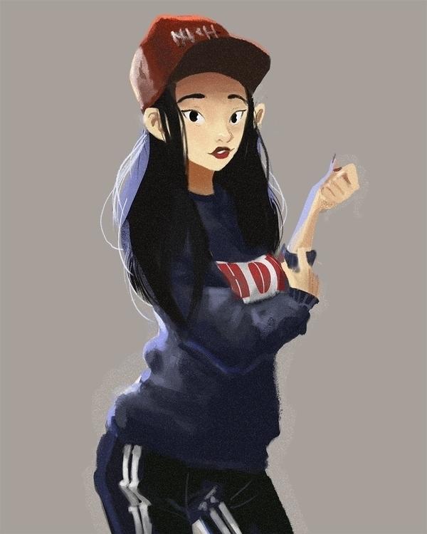 character Mina Myoung, favourit - acknebar | ello