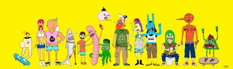 illustration, characterdesign - nickerfe | ello