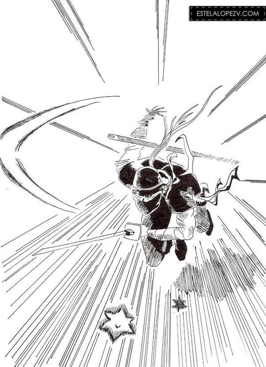 Ninja - drawing, ninja, ink, blackandwhite - stelalo | ello