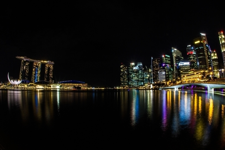 Singapore Night Lights - photography - lincoln_inc | ello