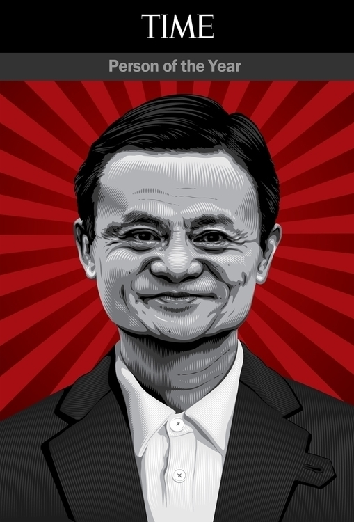 TIME Person Year - Jack Ma - illustration - tracieching | ello