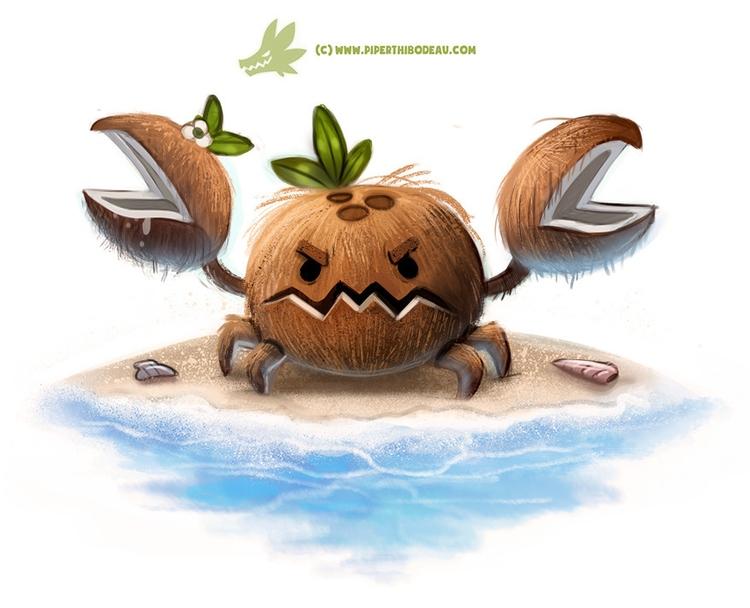 Daily Paint Coconut Crab - 1275. - piperthibodeau | ello