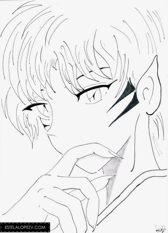 Thinking - manga, woman, girl, handdrawn - stelalo | ello