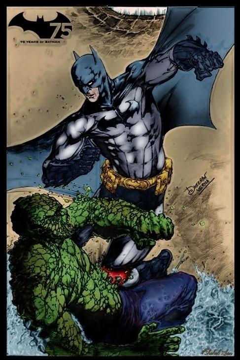Batman color Shahab Khan - painting - shahab01 | ello