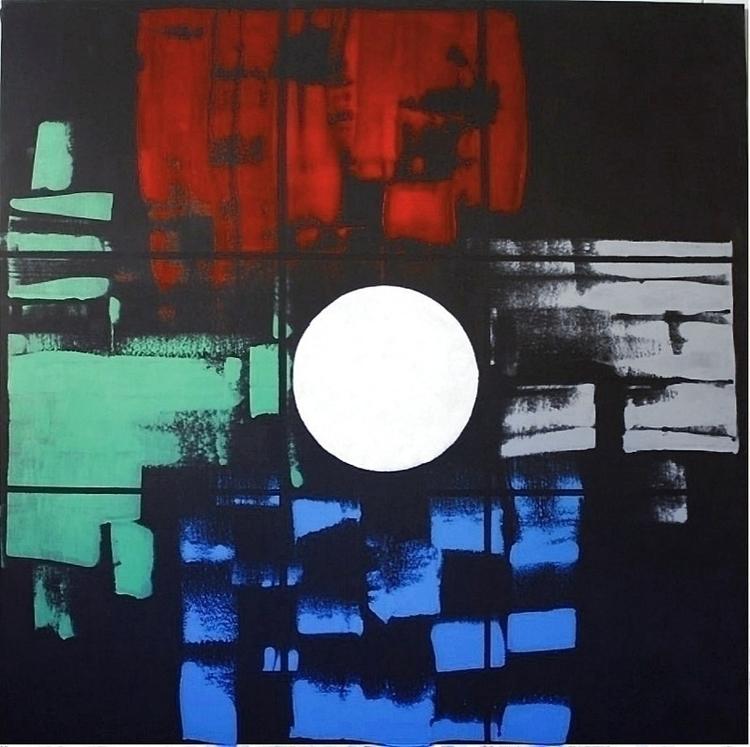 BOSON acrylic canvas 120.120 cm - pacofalco   ello