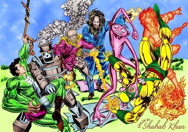 comics cover art Color Shahab K - shahab01 | ello