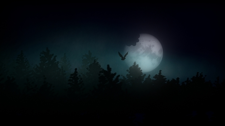 Hallowed Moon - 3D 2D digital a - theonlykoala | ello