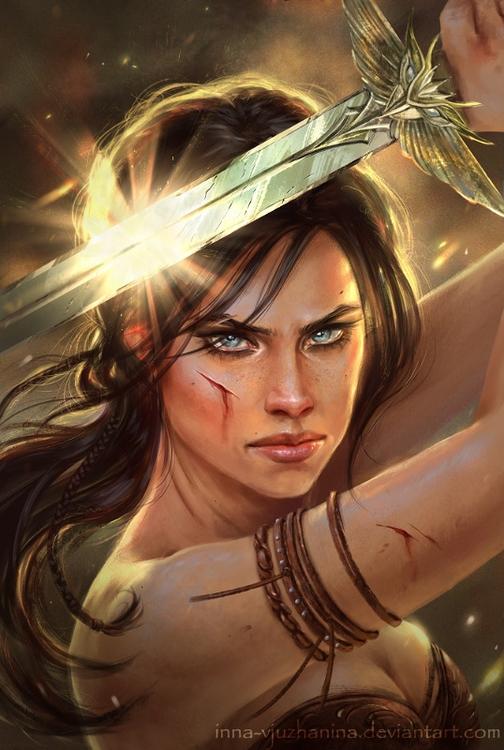 illustration, fighter, warrior - innavjuzhanina | ello