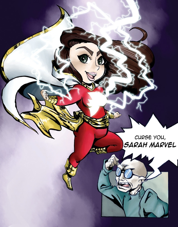 friend drawn Captain Marvel - illustration - kelsonouveau | ello