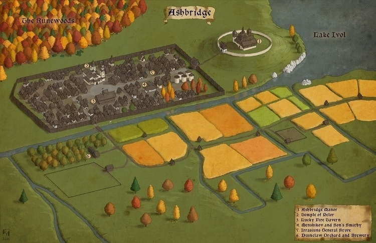 Ashbridge - commissioned map - fantasymap - robertaltbauer | ello
