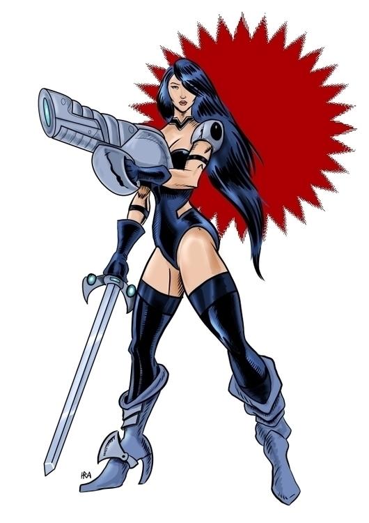 Comic book art style character - haroldrod   ello
