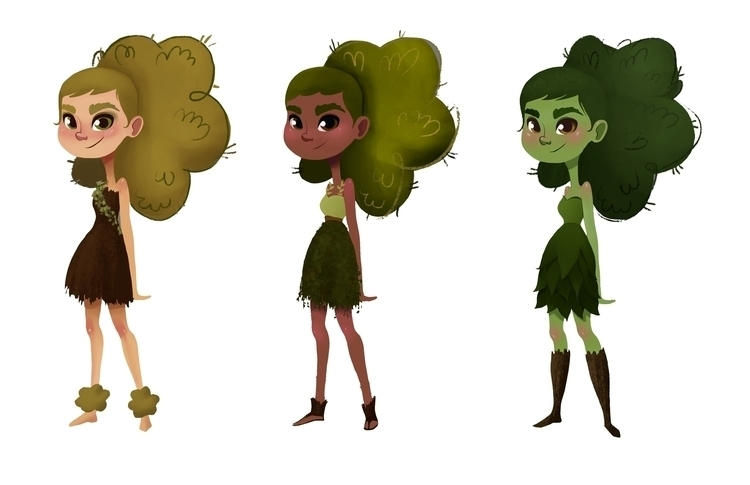 Character Color Studies - visualdevelopment - ashleyodell | ello