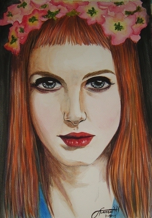 Hayley Williams - illustration, painting - thearthobo | ello