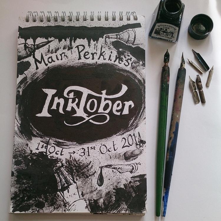 Inktober sketchbook cover - inktober2014 - mairperkins | ello